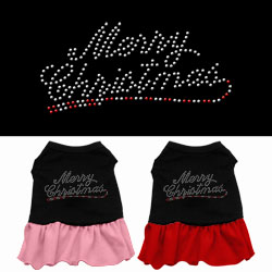 Merry Christmas Rhinestone Dress