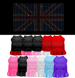 British Flag Rhinestone Dress