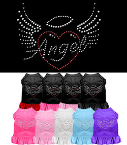 Angel Heart Rhinestone Dress