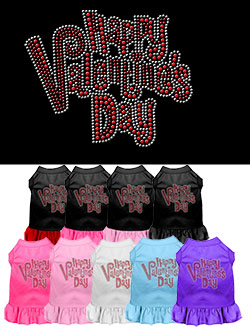 Happy Valentines Day Rhinestone Dress