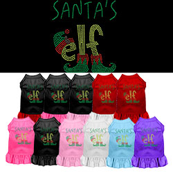 Santa's Elf Rhinestone Pet Dress