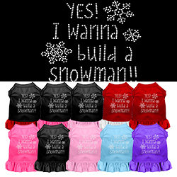 Yes! I want to build a Snowman Rhinestone Pet Dress