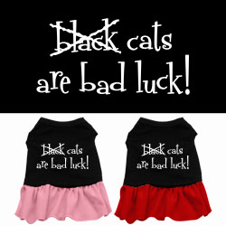 Black Cats are Bad Luck Screen Print Dress