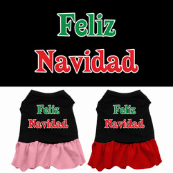 Feliz Navidad Screen Print Dress