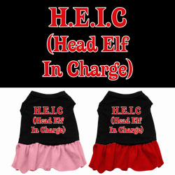Head Elf in Charge Screen Print Dress