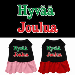 Hyvaa Joulua Screen Print Dress