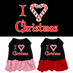 I Love Christmas Screen Print Dress