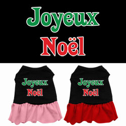 Joyeux Noel Screen Print Dress