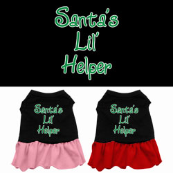 Santa's Lil Helper Screen Print Dress