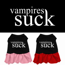 Vampires Suck Screen Print Dress