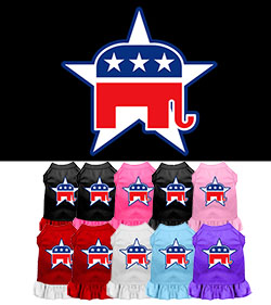 Republican Screenprint Dress