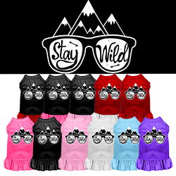 Stay Wild Screen Print Dog Dress
