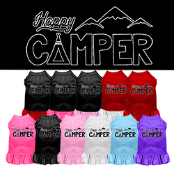 Happy Camper Screen Print Dog Dress