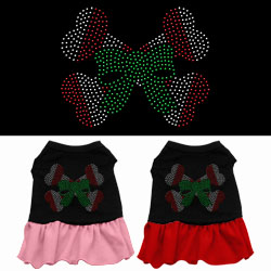 Candy Cane Crossbones Rhinestone Dress