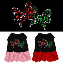 Christmas Bows Rhinestone Dress
