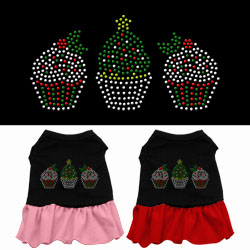 Christmas Cupcakes Rhinestone Dress
