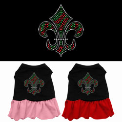Christmas Fleur De Lis Rhinestone Dress