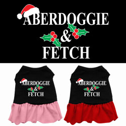 Aberdoggie Christmas Screen Print Dress