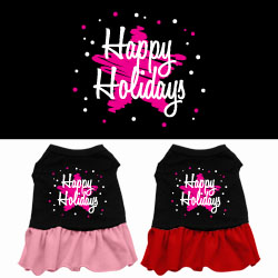 Scribble Happy Holidays Screen Print Dress