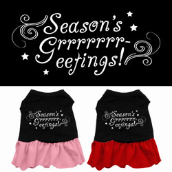 Seasons Greetings Screen Print Dress