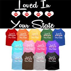 Loved in Arkansas Screen Print Souvenir Dog Shirt