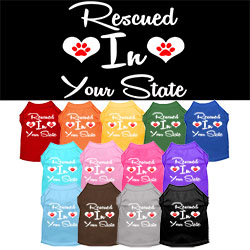 Rescued in Arkansas Screen Print Souvenir Dog Shirt