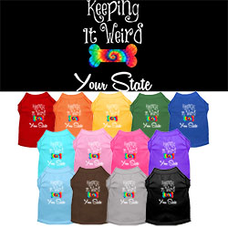 Keeping It Weird Alabama Screen Print Souvenir Dog Shirt