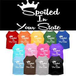 Spoiled in Minnesota Screen Print Souvenir Dog Shirt