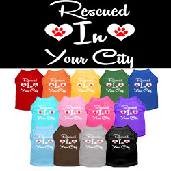 Rescued in Washington D.C. Screen Print Souvenir Dog Shirt
