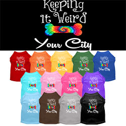 Keeping It Weird Washington D.C. Screen Print Souvenir Dog Shirt