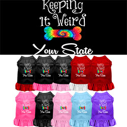 Keeping it Weird Arkansas Screen Print Souvenir Dog Dress
