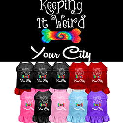 Keeping it Weird Washington D.C. Screen Print Souvenir Dog Dress