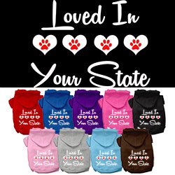 Loved in Arkansas Screen Print Souvenir Dog Hoodie