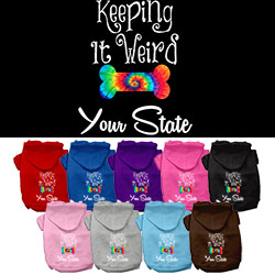 Keeping It Weird Arkansas Screen Print Souvenir Dog Hoodie