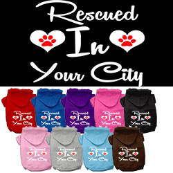Rescued in Washington D.C. Screen Print Souvenir Dog Hoodie