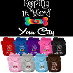 Keeping It Weird Washington D.C. Screen Print Souvenir Dog Hoodie
