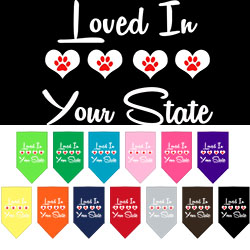 Loved in Arkansas Screen Print Souvenir Pet Bandana