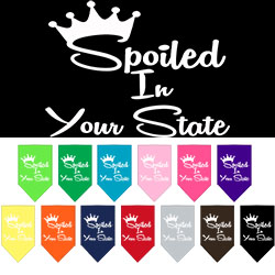 Spoiled in Utah Screen Print Souvenir Pet Bandana