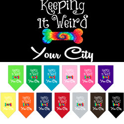 Keeping it Weird Washington D.C. Screen Print Souvenir Pet Bandana