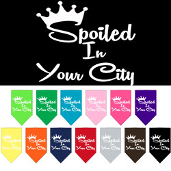 Spoiled in Washington D.C. Screen Print Souvenir Pet Bandana