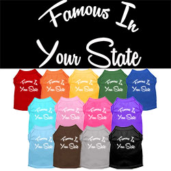 Famous in Utah Screen Print Souvenir Dog Shirt