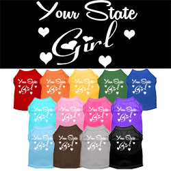 Minnesota Girl Screen Print Souvenir Dog Shirt