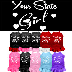 Arkansas Girl Screen Print Souvenir Dog Dress