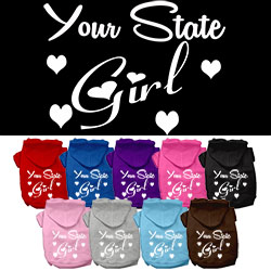 Utah Girl Screen Print Souvenir Dog Hoodie