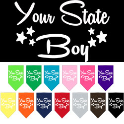 Arkansas Boy Screen Print Souvenir Pet Bandana