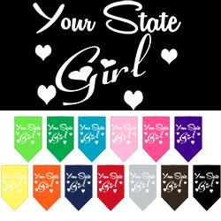 Arkansas Girl Screen Print Souvenir Pet Bandana