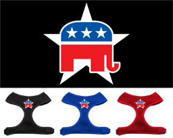 Republican Screen Print Soft Mesh Harness
