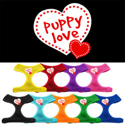 Puppy Love Soft Mesh Harnesses