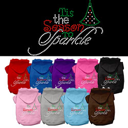 Tis the Season to Sparkle Rhinestone Pet Hoodie