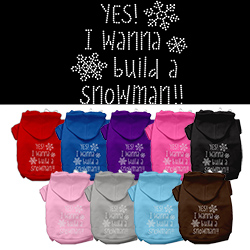 Yes! I want to build a Snowman Rhinestone Pet Hoodie